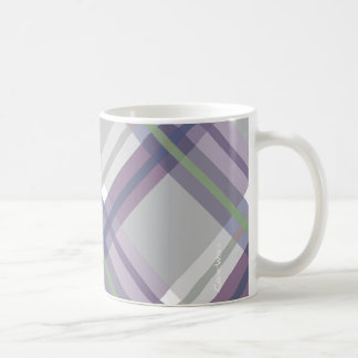 Plaids, Checks, Tartans Grey Green Lavender Coffee Mug