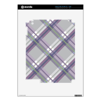 Plaids, Checks, Tartans Grey Green Lavender Decal For The iPad 2