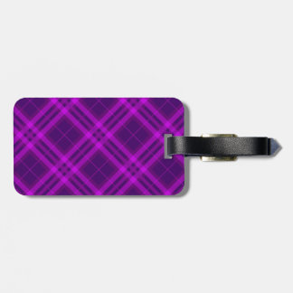 Plaids, Checks, Tartans purple and deep magenta Bag Tag