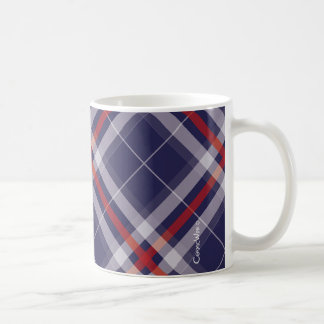 Plaids, Checks, Tartans White Red Blue Coffee Mug
