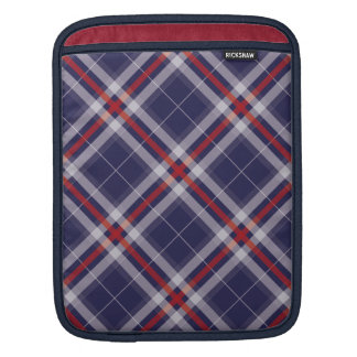 Plaids, Checks, Tartans White Red Blue iPad Sleeve