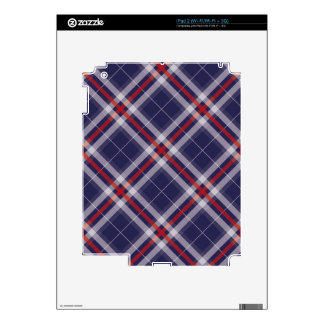 Plaids, Checks, Tartans White Red Blue Skins For The iPad 2