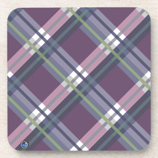 Plaids, Checks, Tartans Wine Beverage Coaster