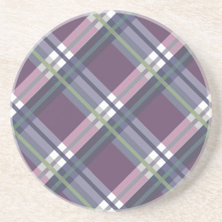 Plaids, Checks, Tartans Wine Sandstone Coaster