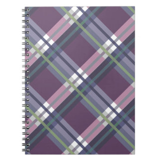 Plaids, Checks, Tartans Wine Spiral Notebook