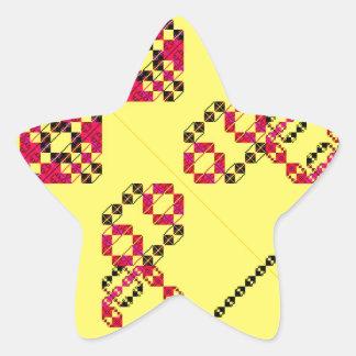 PlaidWorkz 16 Pegatina En Forma De Estrella