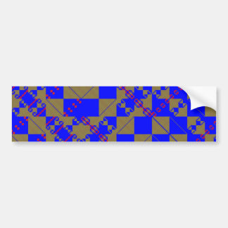PlaidWorkz 9 Bumper Sticker