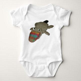 Plaidypus apparel--no text baby bodysuit