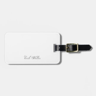 Plain 3d Monogram Name Text Bag Tag