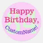 [ Thumbnail: Plain 84th Birthday Sticker ]