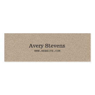 Plain and Simple Beige Texture Minimalist Double-Sided Mini Business Cards (Pack Of 20)