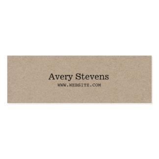 Plain and Simple Beige Texture Minimalist Mini Business Card