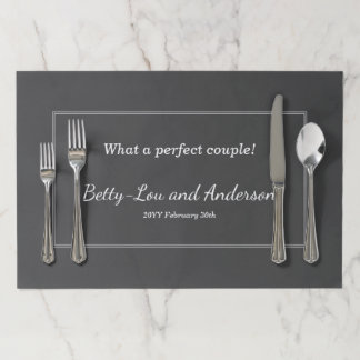 Plain and Simple Matrimony Tearaway Placemats