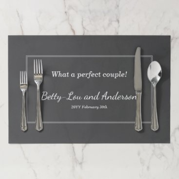 AponxDesigns Plain and Simple Matrimony Tearaway Placemats
