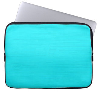 Plain aqua cyan background laptop sleeve