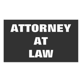 Plain Attorney at Law Business Card