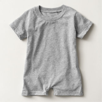 Plain Baby Romper Grey