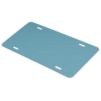 Plain Beatnik Blue color License Plate
