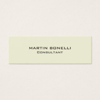 Plain Beige Color Skinny Size Business Card