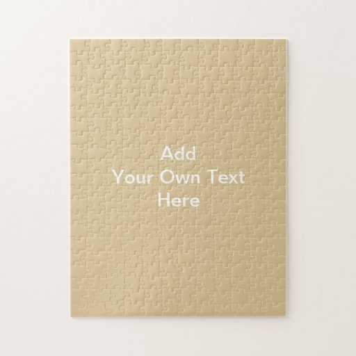 Plain Beige with Custom White Text. Puzzle