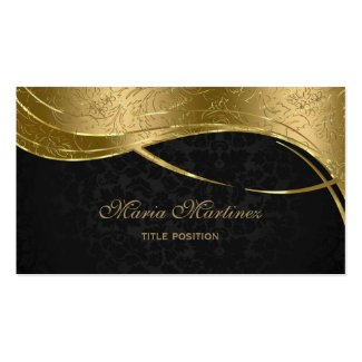 Plain Black And Gold Damask