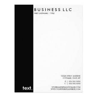 plain black and white letterhead design