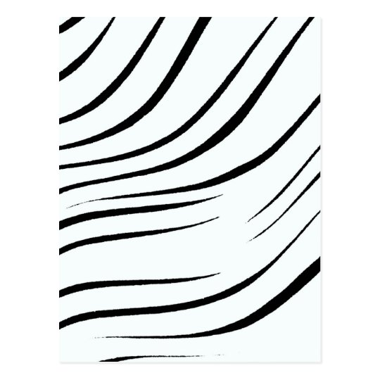 Plain Black And White Postcard