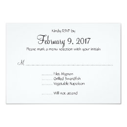 Meal Selection Invitations Announcements Zazzle