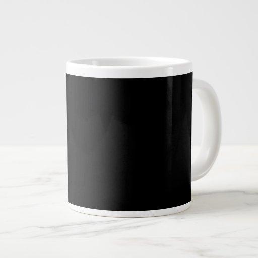 Plain Black Background Giant Coffee Mug