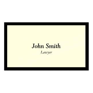 Plain Black Border Lawyer/Attorney Business Card