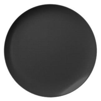 Plain Black Color Plate