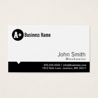 Plain Black Dot Mechanic Business Card