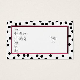 Plain Black Dots Business Card