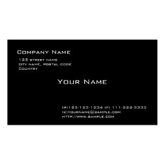Plain black Double-Sided standard business cards (Pack of 100)