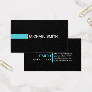 Plain Black Elegant Modern Sea Serpent Business Card