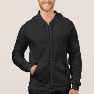 Plain black fleece zip hoodie for men