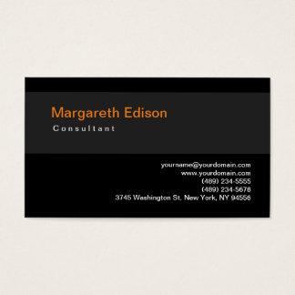 Plain Black Grey Stripe Standard Business Card