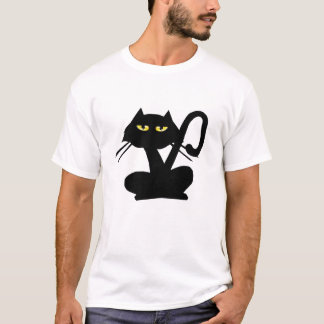 Plain Black KittyT-Shirt T-Shirt