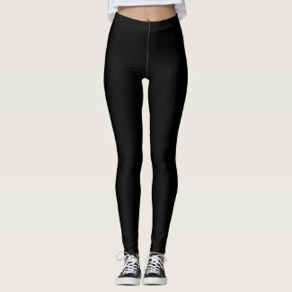 Plain black - leggings