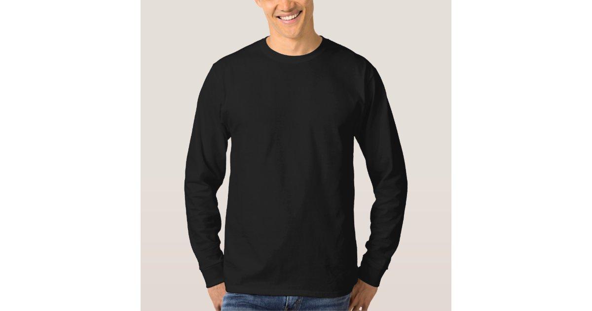 Plain Black Mens Basic Long Sleeve T-shirt | Zazzle.com