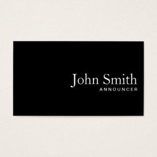 Plain Black QR Code Announcer Business Card