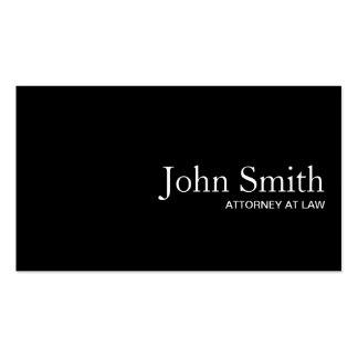 Plain Black QR Code Attorney Business Card