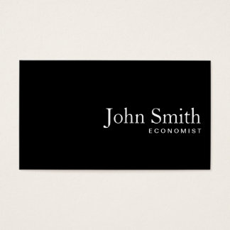 Plain Black QR Code Economist Business Card