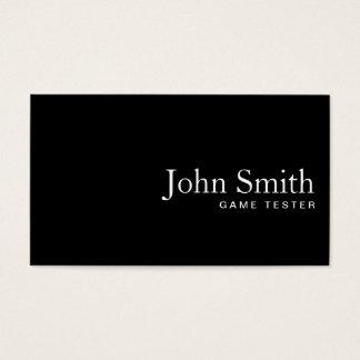 Plain Black QR Code Game Testing Business Card