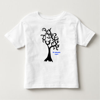 plain black tree, I'm growing fast! Toddler T-shirt