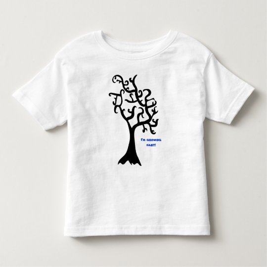 plain black tree, I'm growing fast! Toddler T-shirt