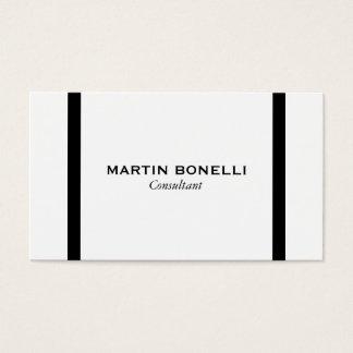 Plain Black White Border Standard Business Card