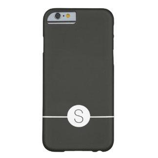 Plain Black White Monogram Minimalist iOS 8 Style Barely There iPhone 6 Case