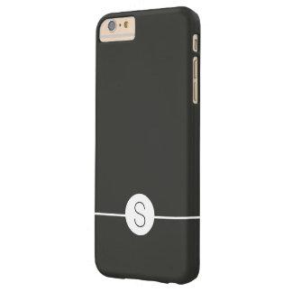 Plain Black White Monogram Minimalist iOS 8 Style Barely There iPhone 6 Plus Case