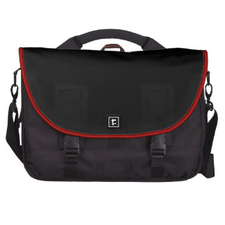 Plain Black with Red Piping>Laptop Bag